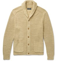 Polo Ralph Lauren Shawl Collar Cotton And Linen Blend Cardigan Sand