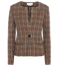 Etoile Isabel Marant Lyra Wool Blend Jacket Multicoloured