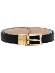 Dolce And Gabbana Classic Thin Belt Black