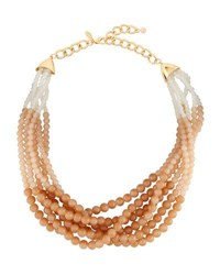 Emily And Ashley Beaded Torsade Statement Necklace Neutral