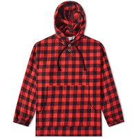 Proper Gang Check Popover Hoody Red