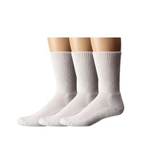 Thorlos Uniform Crew 3 Pair Pack White Crew Cut Socks Shoes