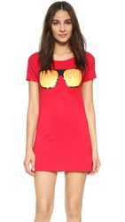 Moschino Swim Cover Up Tee Red