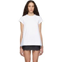 Red Valentino White Poplin Short Sleeve Sweatshirt