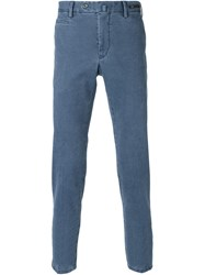 Pt01 Slim Chino Trousers Blue