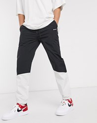 Element Primo Track Pant In White Black