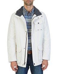 Nautica Multi Pocket Parka Jacket Silver Birch