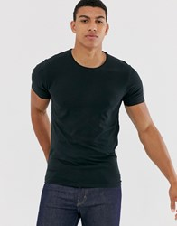 Selected Homme 'The Perfect Tee' Muscle Fit Lounge T Shirt In Black
