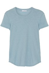 James Perse Slub Cotton Jersey T Shirt Light Blue