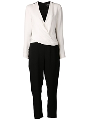 J. Mendel Two Tone Jumpsuit Black