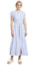 Ayr The Sunset Dress Blue And White Stripe