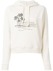 Saint Laurent Waiting For Sunset Hoodie Cotton Nude Neutrals