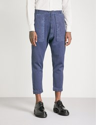 Vivienne Westwood Regular Fit Tapered Denim Trousers Faded Blue