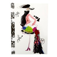 Christian Lacroix A6 Fashion Sketch Croquis Notebook
