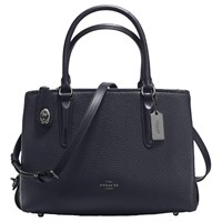 Coach Brooklyn 28 Leather Carryall Tote Bag Navy