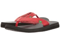 Sanuk Yoga Mat Bright Red Women's Sandals