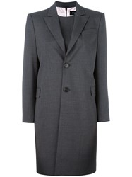 Dsquared2 Long Single Breasted Coat Grey