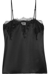 Cami Nyc The Sweetheart Lace Trimmed Silk Charmeuse Camisole Black