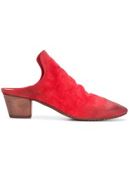 Marsell Slip On Mules Red