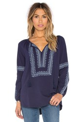 Soft Joie Bekele Embroidered Top Navy