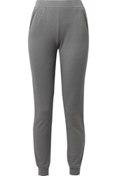 Atm Anthony Thomas Melillo Cotton Blend Terry Track Pants Gray