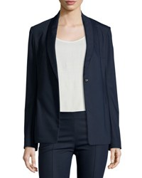 The Row Shoner One Button Shawl Collar Blazer Black