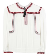 Etoile Isabel Marant Cabella Embroidered Blouse White