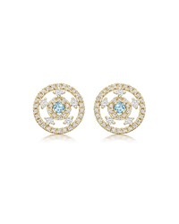 Kiki Mcdonough Apollo 18K Gold Blue Topaz And Diamond Stud Earrings