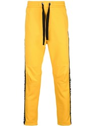 Iceberg Logo Panel Track Pants Yellow