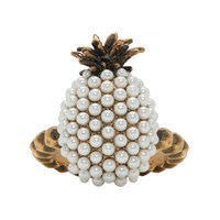 Gucci Gold Small Pearl Pineapple Ring