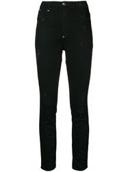 Philipp Plein High Waist Jeggings Black