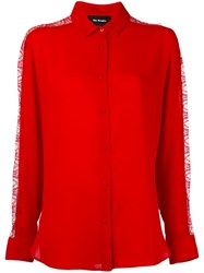 The Kooples Lace Panel Blouse Red