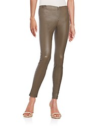 Alice Olivia Leather Leggings Graphite