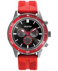 Unlisted Men's Chronograph Red Silicone Strap Watch 50Mm 10027766 Only At Macy's