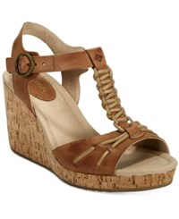 Sperry Dawn Sky Wedge Sandals Women's Shoes Tan