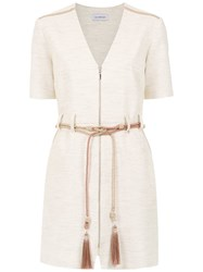 Olympiah Belted Delfino Dress Nude And Neutrals