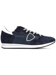 Philippe Model Tropez Sneakers Men Cotton Leather Polyester Rubber 45 Blue