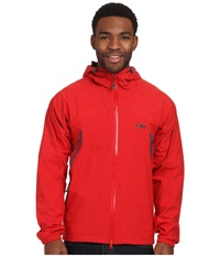 Outdoor Research Allout Hooded Jacket Hot Sauce Men's Coat Brown