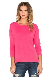 Velvet By Graham And Spencer Delmy Cashmere Classic Sweater Pink