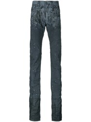 Diesel Black Gold Elongated Distressed Jeans Men Cotton Polyester Spandex Elastane 32 Grey