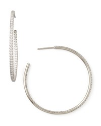 45Mm White Gold Diamond Hoop Earrings 1.4Ct Roberto Coin Red