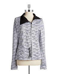 Bench Checkerboard Zip Up Jet Black