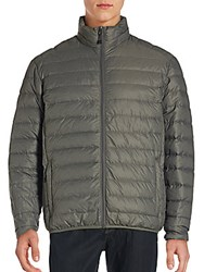 Saks Fifth Avenue Filled Stand Collar Puffer Jacket Carbon
