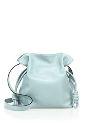 Loewe Flamenco Knot Small Leather Shoulder Bag Fuchsia Marine Aqua