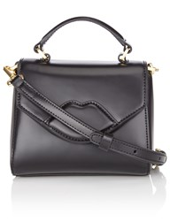 Lulu Guinness Black Leather Mini Izzy Bag