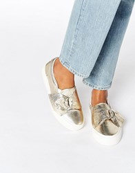 Asos Digger D Ring Trainers Gold