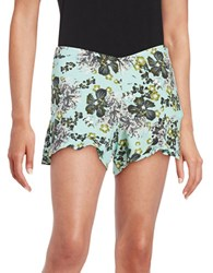 Free People Floral Flutter Shorts Mint Combo
