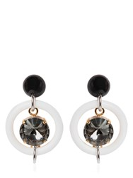 Marni Glass Crystal Hoop Earrings