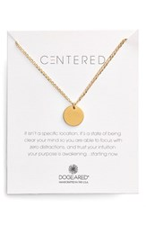 Women's Dogeared 'Centered' Large Circle Charm Necklace