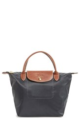 Longchamp 'Mini Le Pliage' Handbag Grey Gunmetal